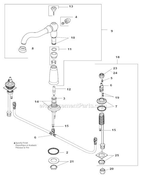 delta faucet 2256 rblhp h216rb parts list and diagram