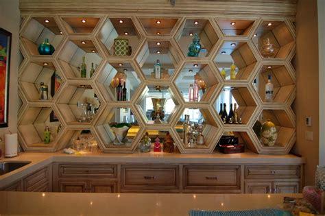 Rustic Dining Room Ideas bar area bottle display