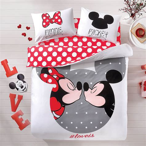 Absolutely Lovely Mickey And Minnie Mouse Bedding Set Minnie And Mickey Mouse Bed Set