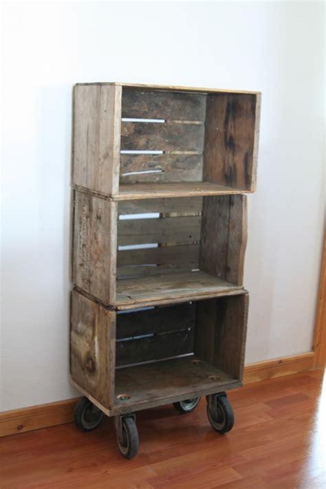 29 Best Fruit Crate Ideas Images On Pinterest Pallets Wood Crate Shelves