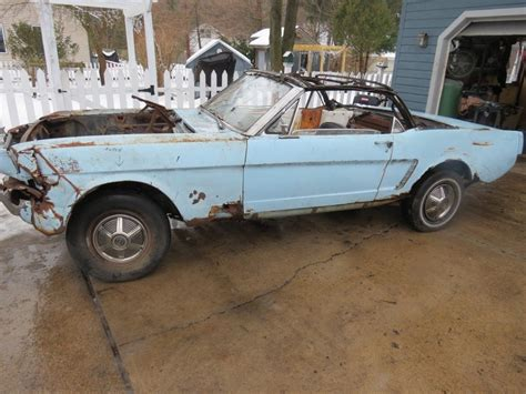 1965 mustang convertible project for sale missing parts 1965 ford mustang convertible project for sale