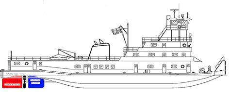 tow boat drawing shipyard theory