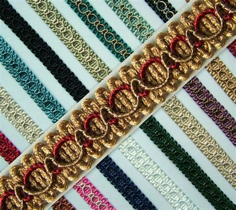 Upholstery Trimmings by Braid Gimp Trim Edging 15mm Wide 1 Metre Upholstery Craft