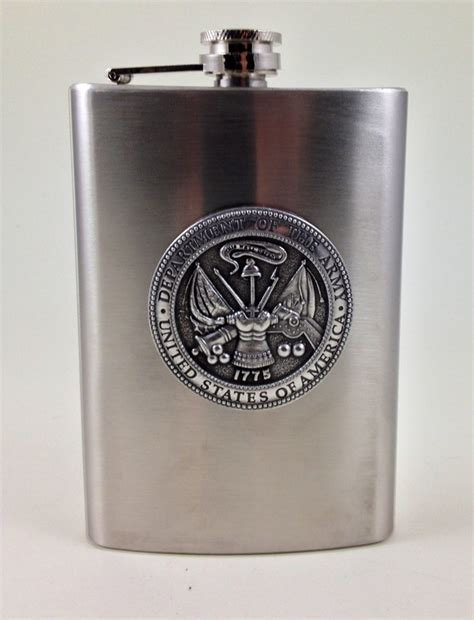 army gifts stainless steel u s army engraved flask army