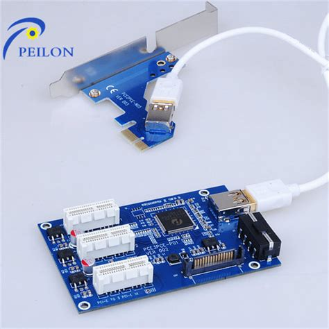 New Pcie Riser 1x To 16x Mining Vga Connector Set 6pin pcie risers for mining bitcoin blue thick usb 3 0 cable buy pcie riser 6pin pcie blue usb