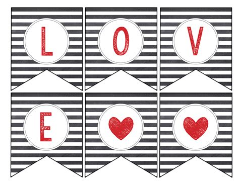 printable i love you banner free printable love banner matching print paper trail