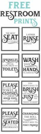 Free Printable Bathroom Etiquette Signs 25 Best Bathroom Quotes On Bathroom Wall