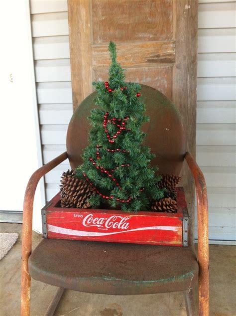 front porch christmas trees mini tree in a soda crate front porch christmas pinterest