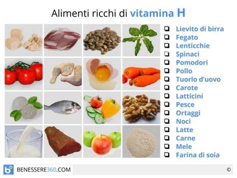 vitamina p alimenti la biotina o vitamina h 232 una vitamina idrosolubile