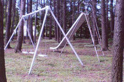 vintage swing set antique school playground 16 bent wood everwear childrens