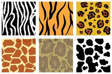 illustration of animal skin texture vector colourbox the animal skin seamless pattern set illustration