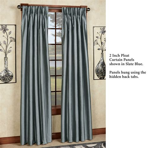 pinch pleat drapery panels marquee flared faux silk pinch pleat curtain panels