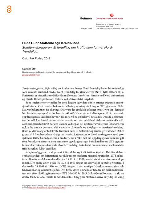 (PDF) Hilde Gunn Slottemo og Harald Rinde