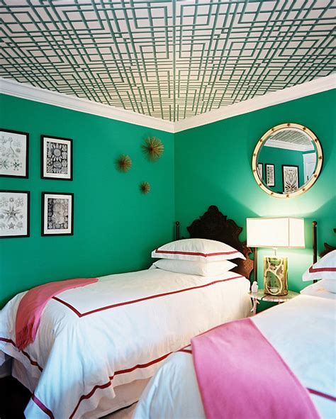 pink and green walls in a bedroom ideas decadent jewel toned bedrooms for a glamorous interior