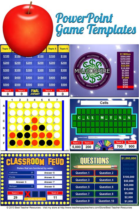 Powerpoint Game Templates That Play Just Like Your Students Favorite Game Shows Including Family Feud Classroom