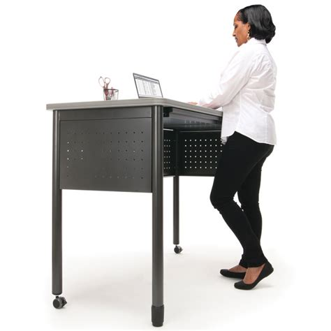 Standing Height Desks by All Mesa Mobile Standing Height Desk By Ofm Options