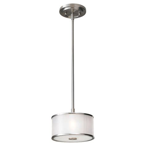 Feiss Casual Luxury 1 Light Brushed Steel Mini Pendant Brushed Steel Pendant Light