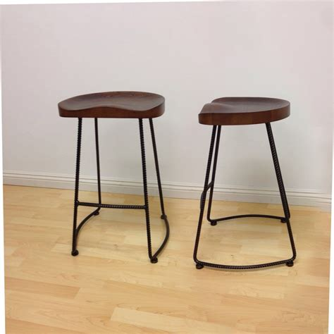 Wood Counter Stools by Potter Wood Counter Stool Metal Leg 2 Pack