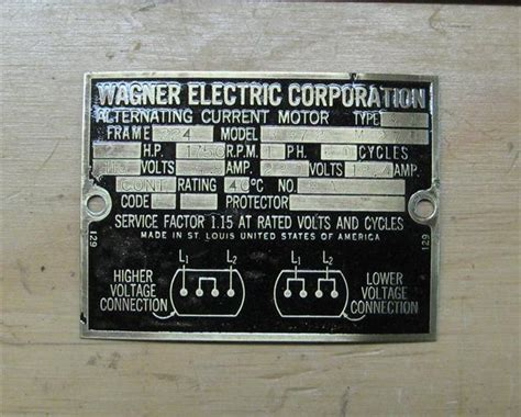 wagner electric motor wiring