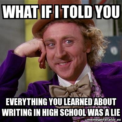 everything you learned about selling is a lie a faith based journey books meme willy wonka what if i told you everything you