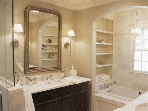 arch bathtub alcove  modular shelves traditional