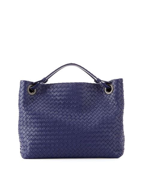 Botega Venetta Bag lyst bottega veneta intrecciato medium shoulder bag in blue