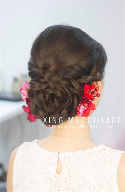 asian hairstyles buns 51 best wedding hairstyle images on pinterest bridal