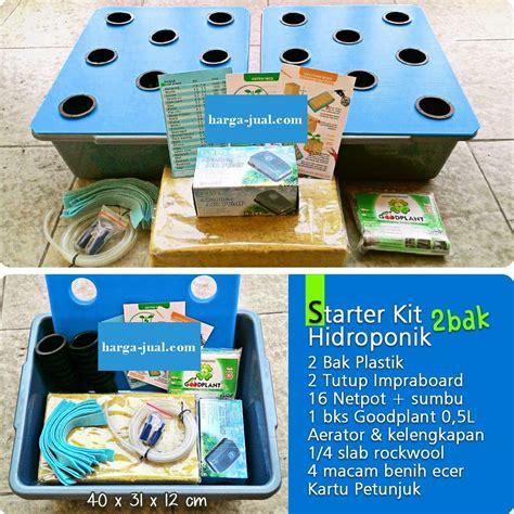 Paket Tanaman Hemat starterkit hidroponik wick 2 bak airator paket hemat