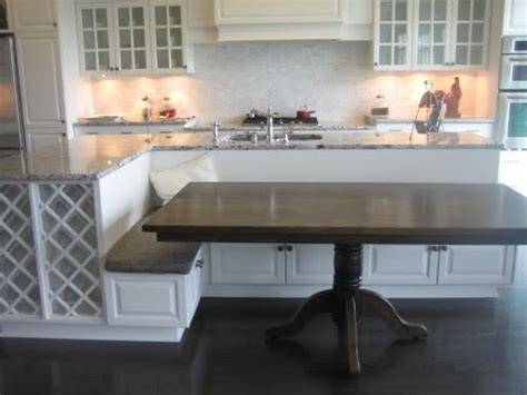 bench for kitchen island best 25 island table ideas on