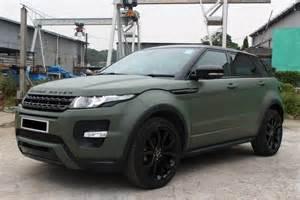 matte army green land rover range rover evoque dreamin