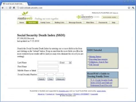 Social Security Database Records Social Security Record Database