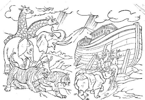 coloring pages for noah s ark noah on noah ark noahs ark craft and bible