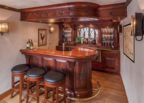 Vermont Kitchen Cabinets english style basement pub traditional home bar