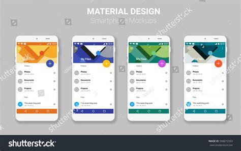 material design mockup creator material ui screens mockup kit stock vector 398072593