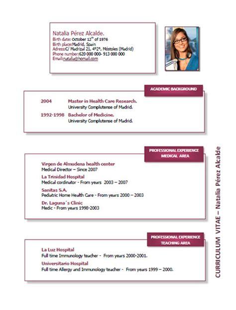 Plantilla De Curriculum En Ingles Ejemplos Y Plantillas De Curriculum En Ingl 233 S Trabajar En Inglaterra Cvexpres