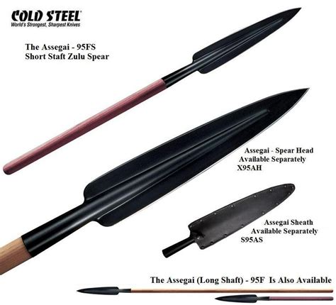 how to make a spear shaft cold steel shaft assegai spear southern swords uk