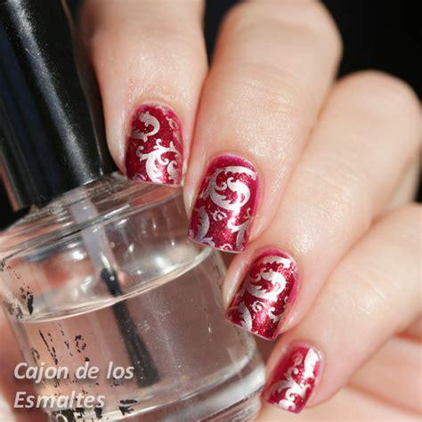 imagenes de uñas decoradas rojo y dorado u 241 as decoradas elegantes estado de brocado cajon de