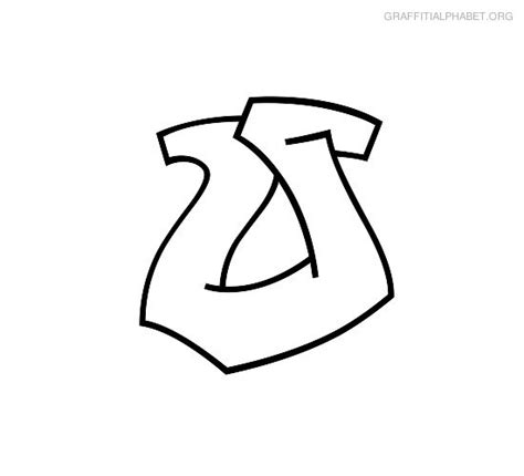 Beautiful Graffiti Coloring Pages #1: Coloring-graffiti-alphabet-o.jpg
