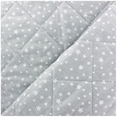 Quilted Cotton Fabric by Reversible Quilted Cotton Fabric Dousnui Light Grey X