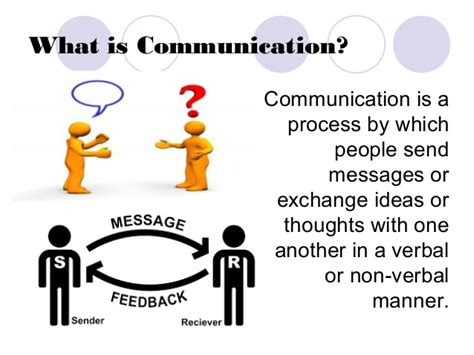 what is a one the nature of communication