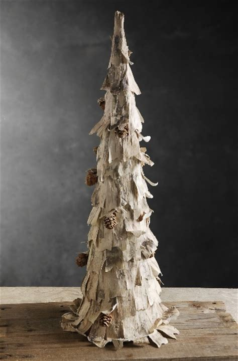 birch bark tree with pine cones holiday ideas pinterest