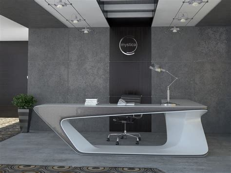 modern desk design futuristic l shaped desk for modern workspaces digsdigs
