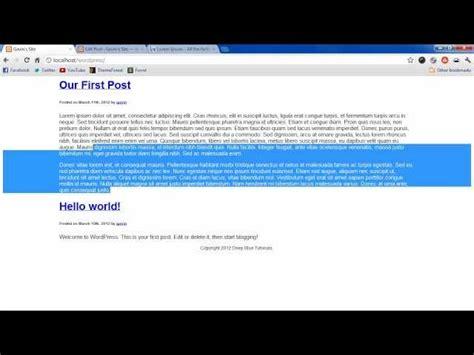 tutorial wordpress header wordpress tutorial 4 header and footer files
