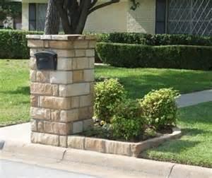 brick mailbox w flower box ideas for the house