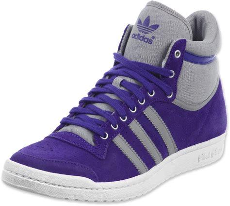 adidas high top shoes for adidas top ten hi sleek w shoes purple grey