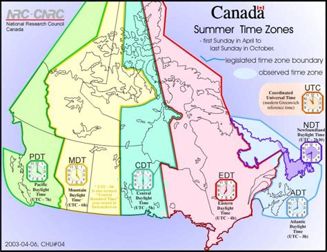 canadian map and time zones usa and canada time zone map