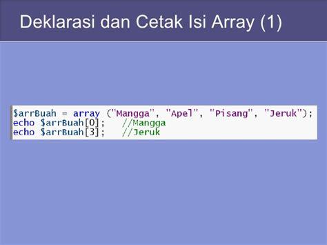 isi for array array dan fungsi