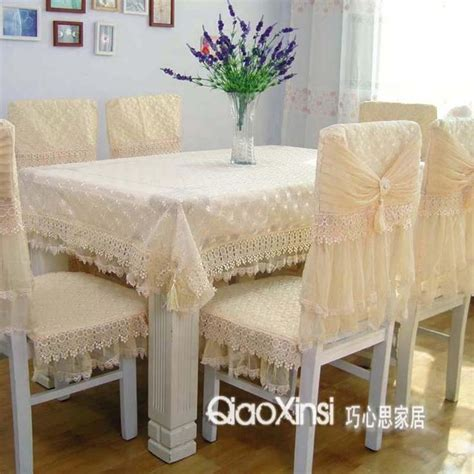 Dining Room Table Chair Covers Quality Table Cloth Chair Cover Cushion Dining Table Cloth Tablecloth Lace Cloth Set