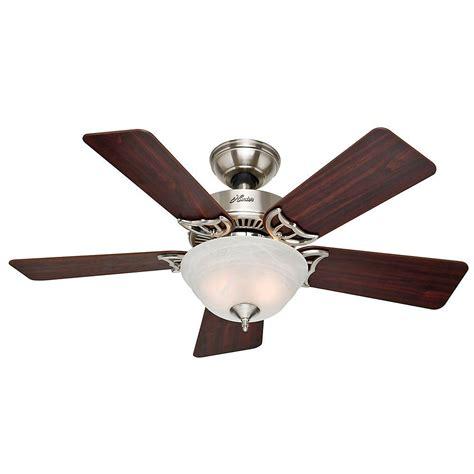 Hunter Kensington Ceiling Fan hunter kensington 42 in indoor brushed nickel ceiling fan