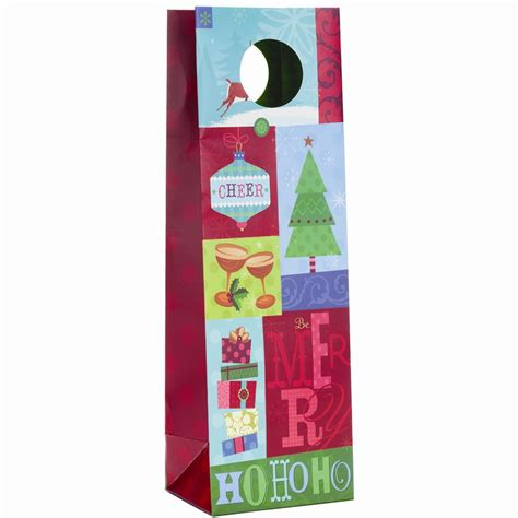 uptown holiday bottle tote holiday cheer